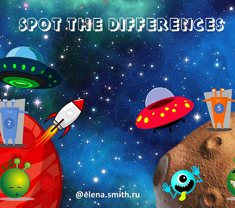 """Spot the differences"" worksheet"